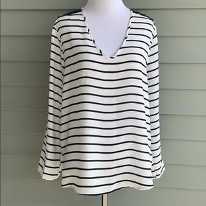 Fun2 fun blouse top striped size small